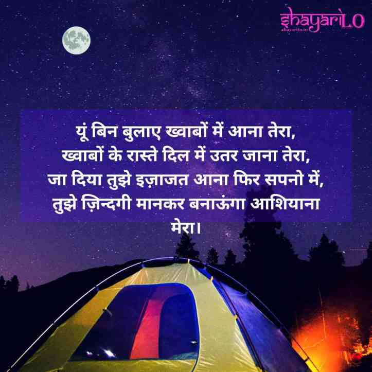 Best good night love shayari