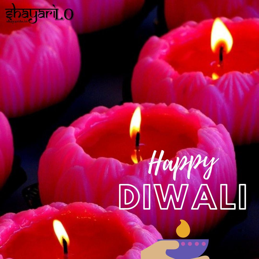 Happy Diwali red background