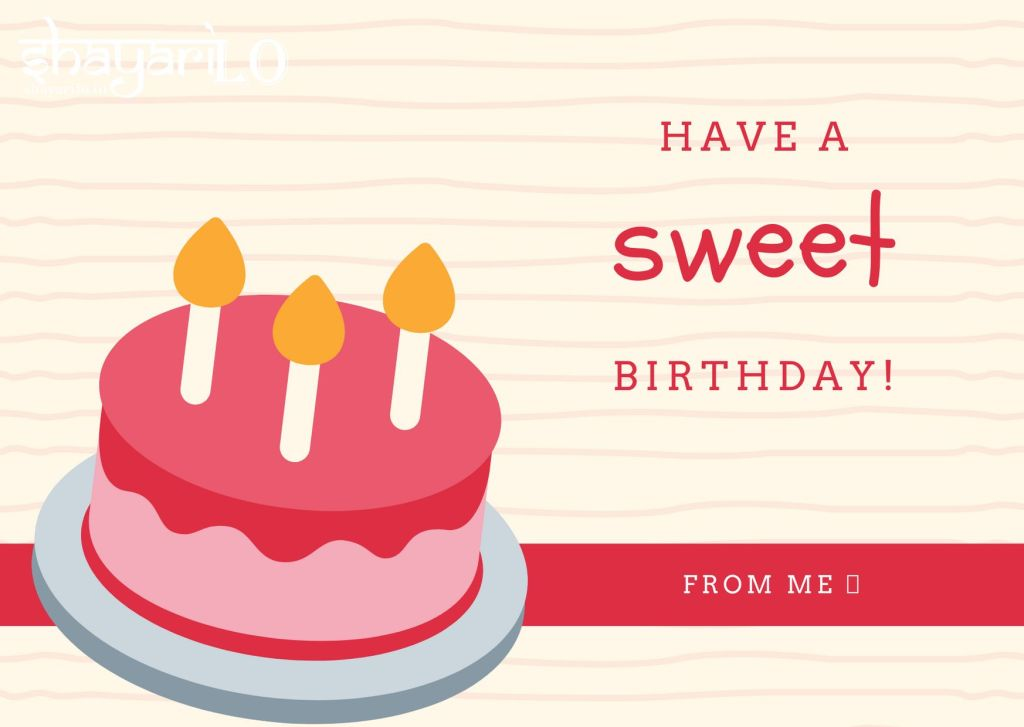Strowberry cake birthday image