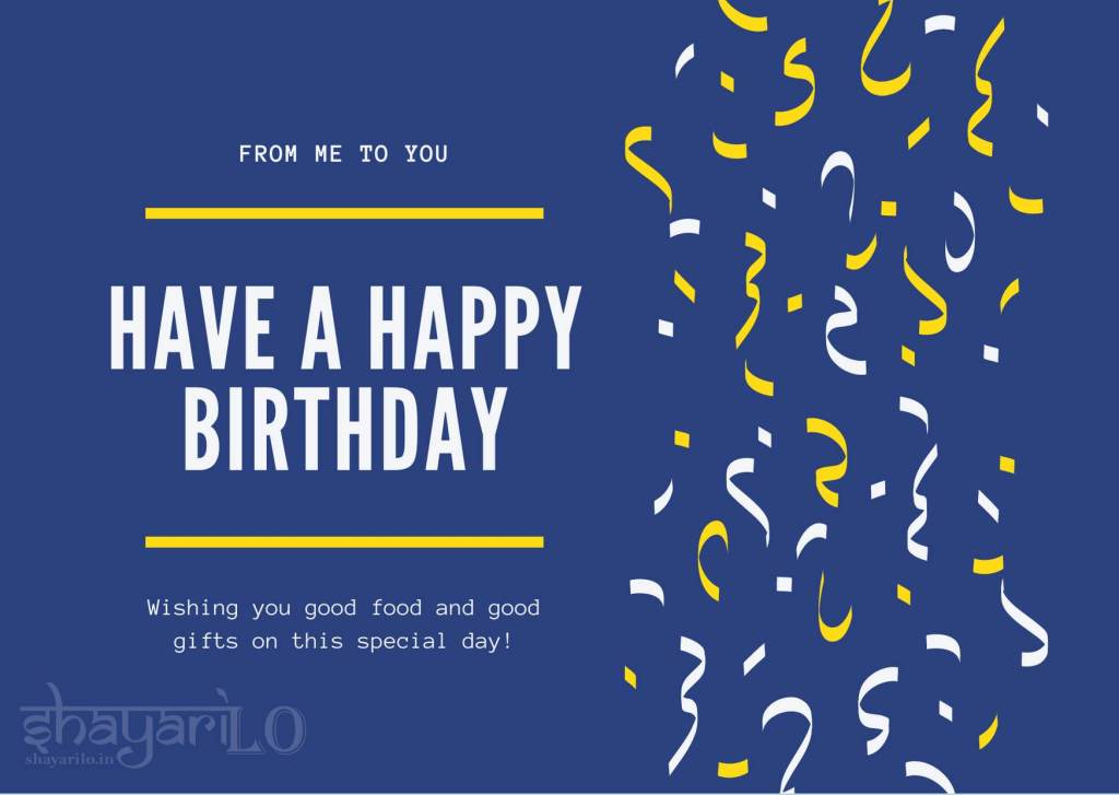 Happy Birthday dark blue background