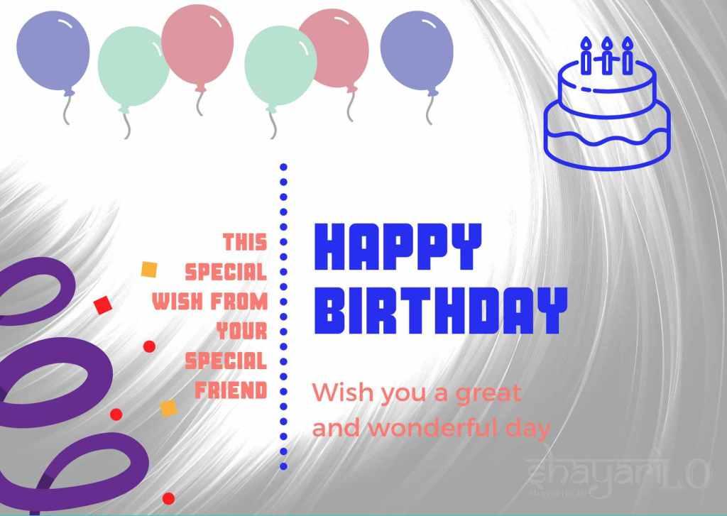 White background birthday greetings image
