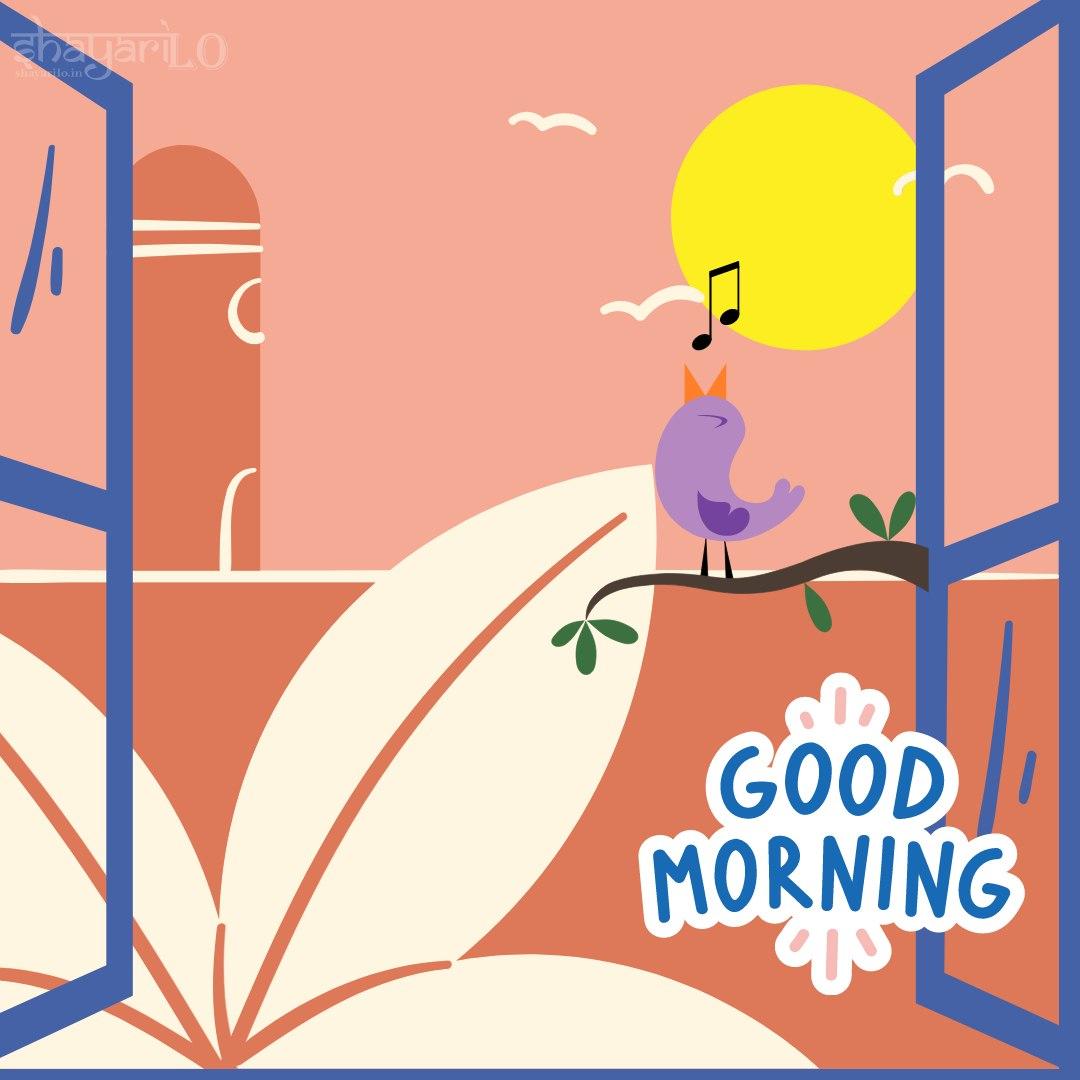 Good morning Wishes sunrise window