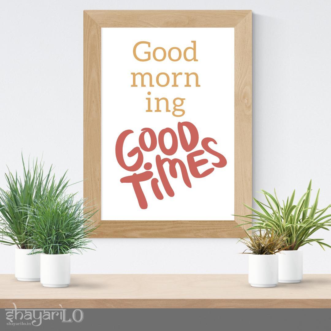 Good morning greetings image